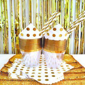 Gold Party Decoration Set 78 Pieces